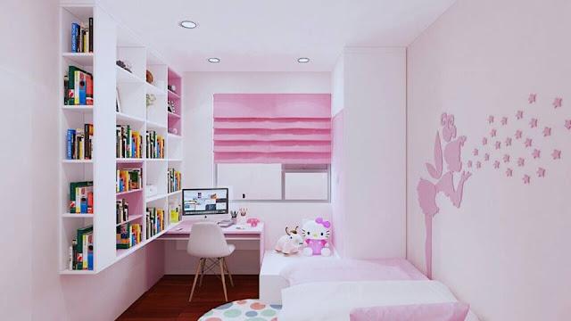 Mẫu thiết kế phòng ngủ cho bé yêu căn 92m tại chung cư HH03 Thanh hà