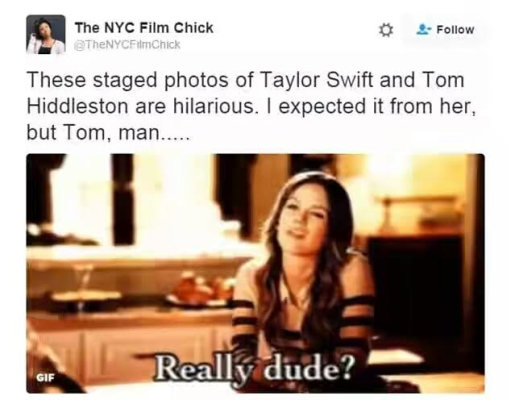 taylor swift and tom hiddleston memes