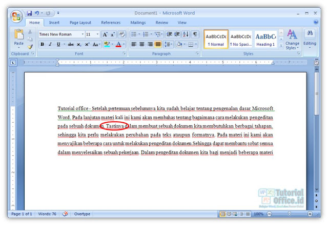 Editing Teks Microsoft Word