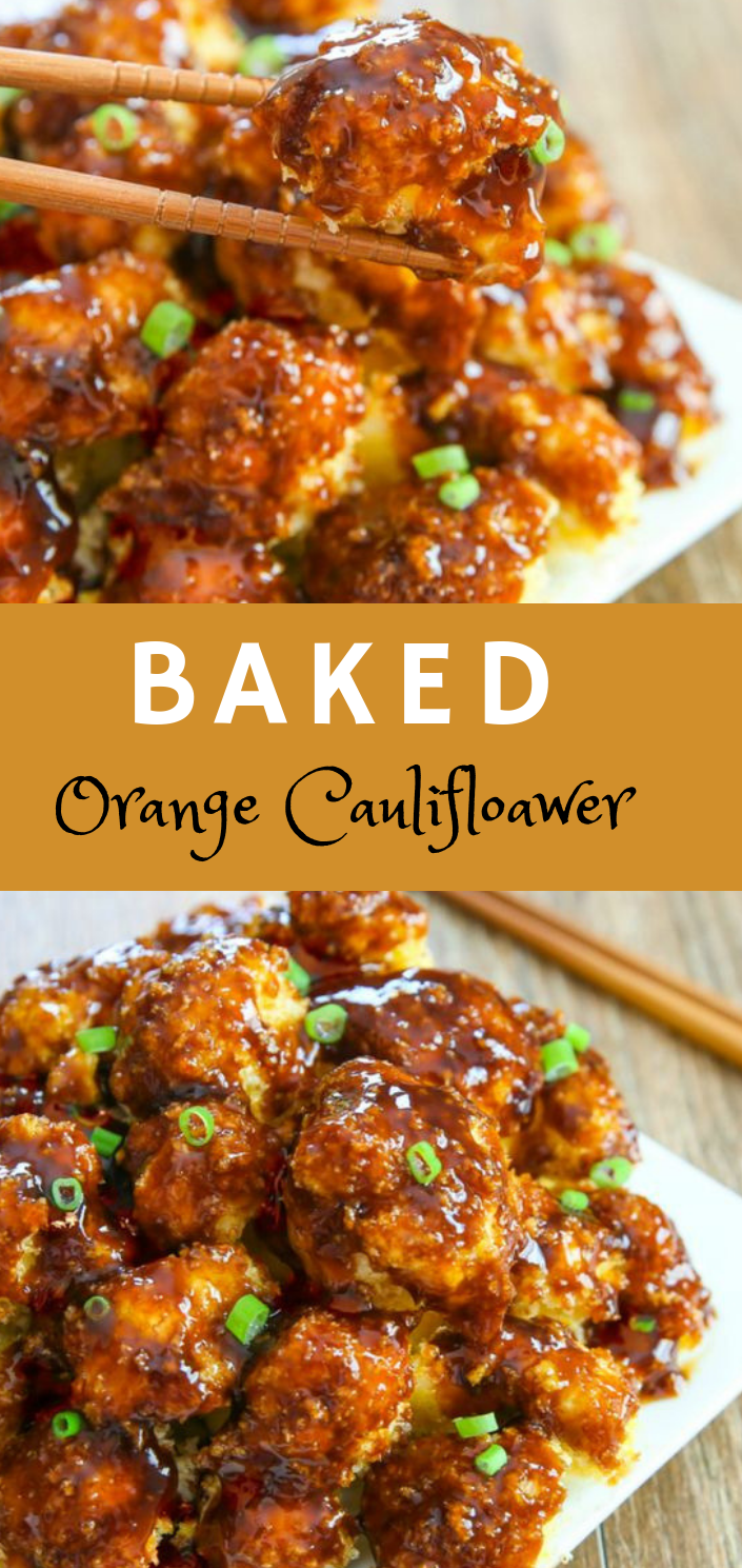 Baked Orange Cauliflower #familyfoods #healthydinner