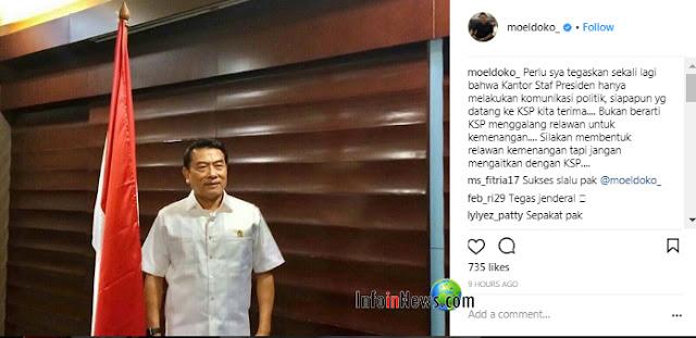Bantah Tudingan Fadli Zon, Moeldoko Beri 'Tamparan Keras' lewat Instagram