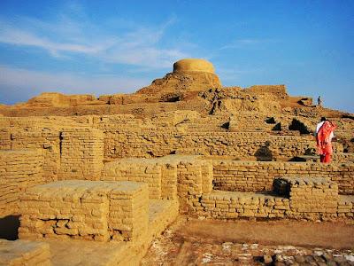 Ruinas de la antigua ciudad de Mohenjo Daro