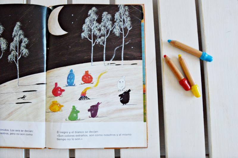 cuando los colores se encuentran álbum ilustrado