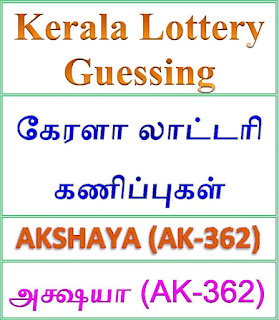 Kerala lottery guessing of AKSHAYA AK-362, AKSHAYA AK-362 lottery prediction, top winning numbers of AKSHAYA AK-362, ABC winning numbers, ABC AKSHAYA AK-362 19-09-2018 ABC winning numbers, Best four winning numbers, AKSHAYA AK-362 six digit winning numbers, kerala lottery result AKSHAYA AK-362, AKSHAYA AK-362 lottery result today,