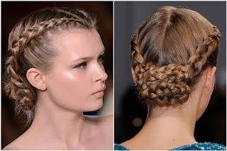 Kısa Saçlarda Arkadan Toplamalı Saç Örgüsü Modelleri
