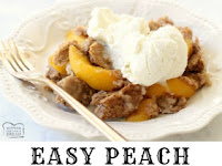 EASY PEACH COBBLER WITH CAKE MIX