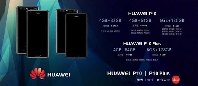Lộ giá bán chính thức của bộ đôi Huawei P10 và P10 Plus
