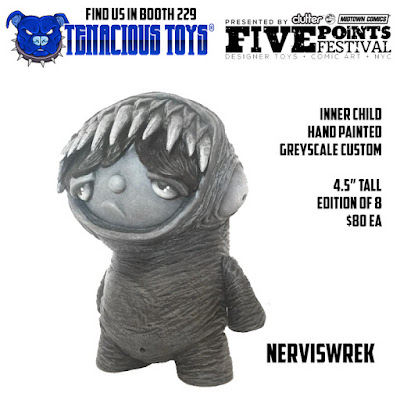 Five Points Festival Exclusive Inner Child Greyscale Edition Vinyl Figure by Nerviswr3k x Tenacious Toys