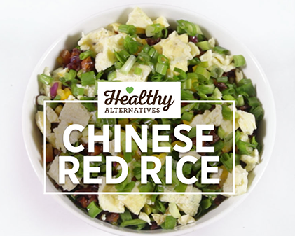 Healthy chinese red rice
