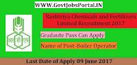 Rashtriya Chemicals and Fertilizers Limited Recruitment 2017– Boiler Operator