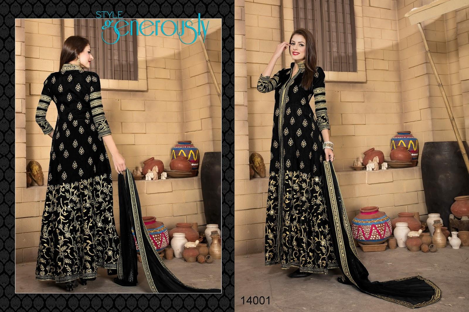 Aanaya Vol 5 – Heavy Designer Benglori Silk Salwar Suit