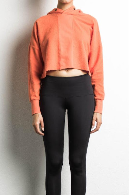 cropped road hoodie in orange