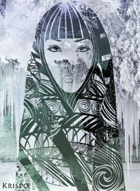 silueta mujer invernal