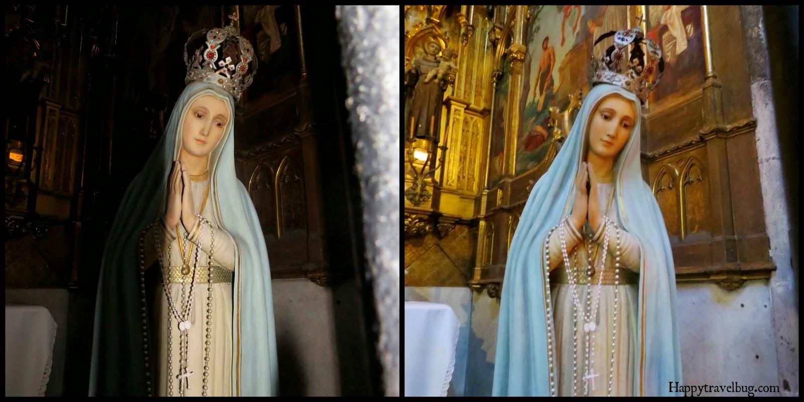 Statue of Mary, mother of Jesus in The Basilica Santa Maria del Pi