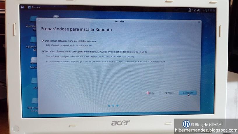 Descargar actualizaciones mientras se Instala Xubuntu - El Blog de HiiARA