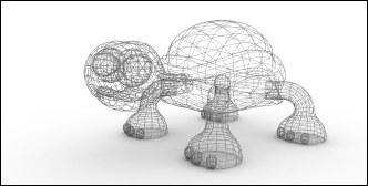 A Wireframe Render of a 3D Model
