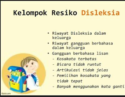 Kelompok resiko Disleksia