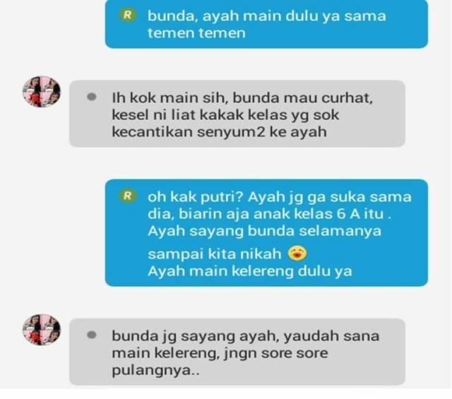 Chat Anak SD Kalau Sudah Pacaran