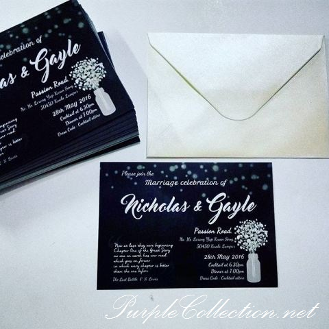 Wedding invitation card johor bahru all the best ideas about marriage black white wedding invitation card stopboris Image collections