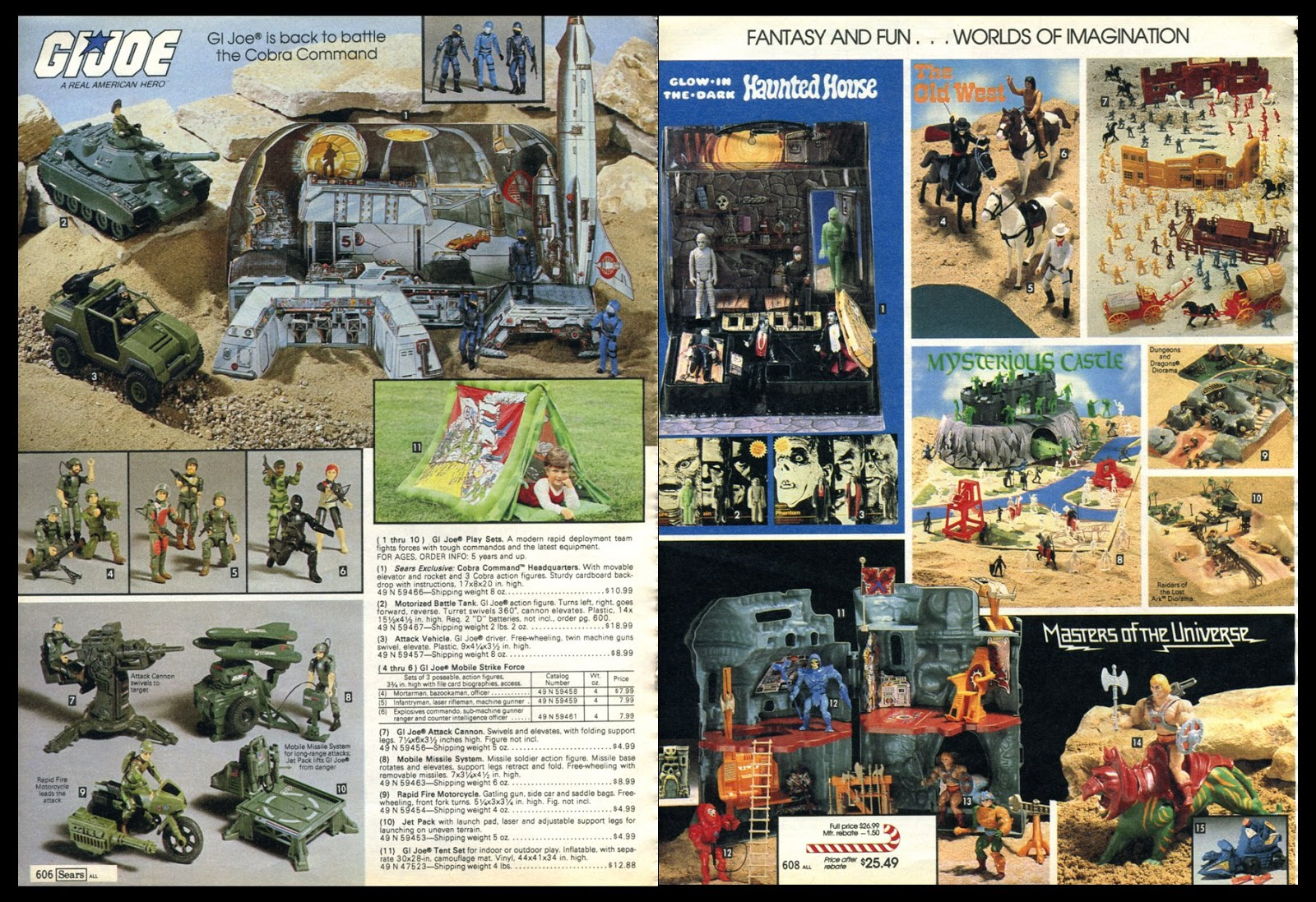 Christmas Toy Catalogs By Mail.Marvel Comics Of The 1980s 1981 Sears Christmas Toys Catalog