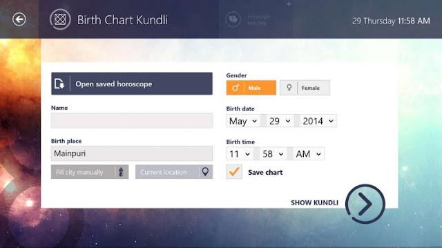 Perangkat lunak & alat online Kundli gratis untuk PC Windows