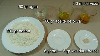 Empanada de espinacas queso y chorizo.Ingredientes para la masa de la empanada