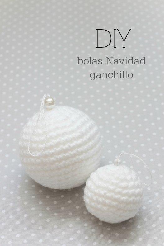 DIY - Bolas de Navidad de ganchillo con patrón gratis | Manualidades