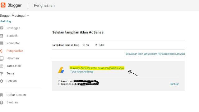 Cara Pasang Iklan Google Adsense Pada Blog