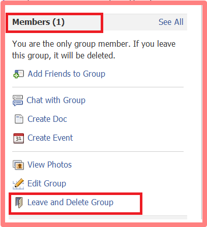 How to delete facebook group page the transnationalites delete group3 ccuart Choice Image