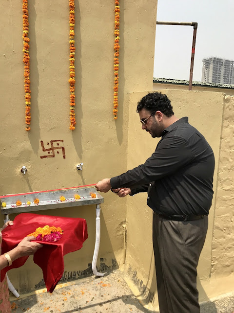 Avneesh Sood of Eros Group inaugurates the first public drinking water RO system in Greater Noida West