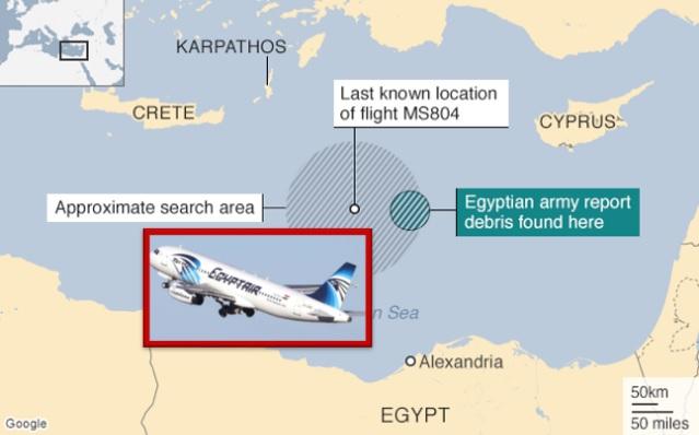 Tentera Jumpa Serpihan Pesawat, Sebahagian Mayat Penumpang EgyptAir