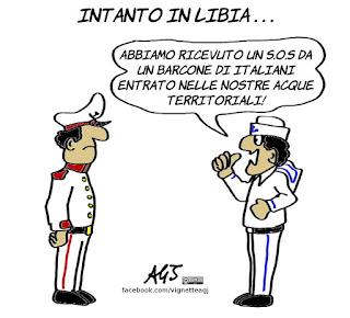 libia, barconi, governo, lega, m5s, profughi, vip, satira, vignetta