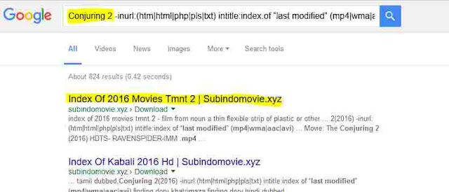 How To Find Direct Download Link of Movies using Google Dorks