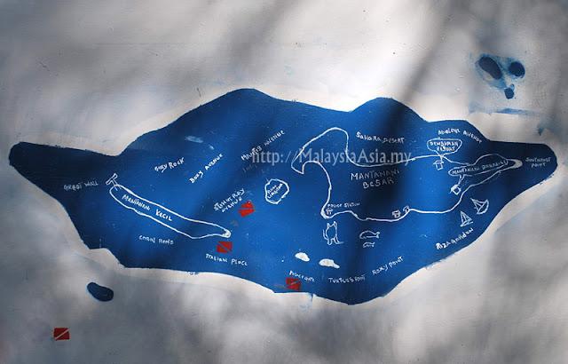 Dive Sites at Mantanani Island