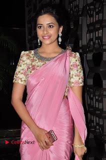 Actress Sri Divya Stills in Saree at Rayudu Movie Audio Launch  0029