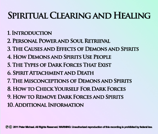 Entity Removal / Spiritual Clearing & Shamanic Healing