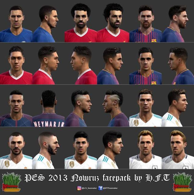 Nowruz Facepack 2018 PES 2013