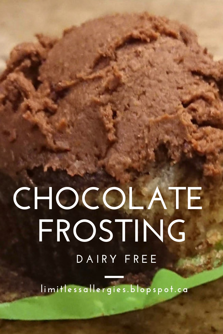 Pin image for Dairy Free Chocolate Frosting