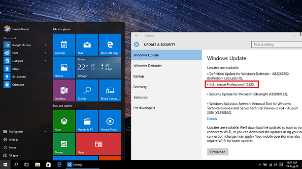 Windows 10 Build 10525 now available to Insiders - Windows Hive