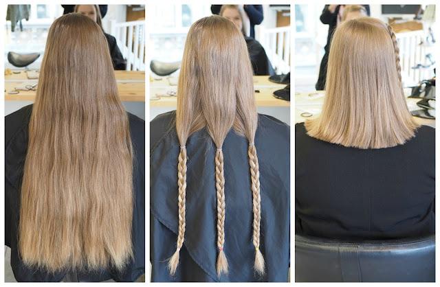Hiusten lahjoittaminen hyväntekeväisyyteen