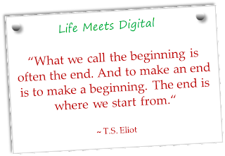 T S Eliot quote about beginning and end