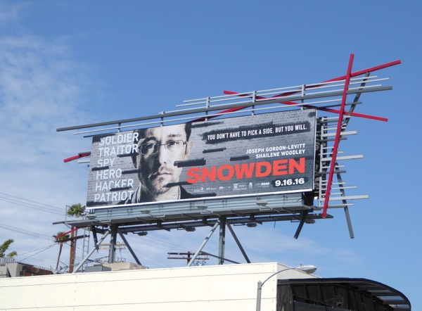 Snowden movie billboard