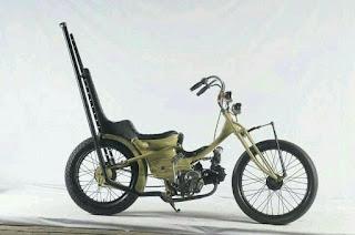 Inspirasi Custom Chopper Dari Motor Bebek Honda CUB C70