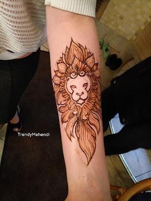 символ тату лев