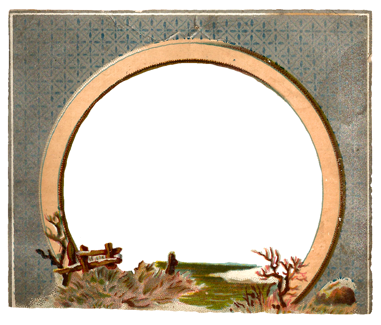 Antique Images: Free Digital Circle Frame with Winter Clip ...