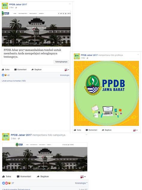 Media sosial PPDB Jawa Barat