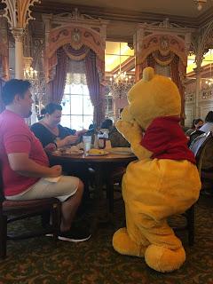 Pooh Sitting at the Plaza Inn Disneyland