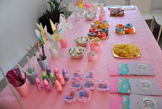 mesa cumpleaños unicornio