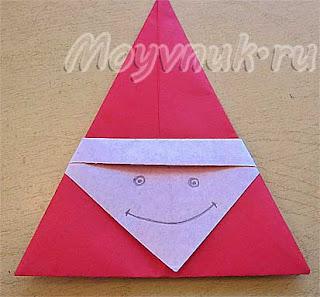 поделка Дед Мороз из бумаги